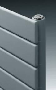 Handdoekdroger ASTER recht, enkel RAL 9016