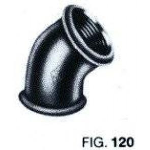 Bocht 45° FF Zwart nr 120