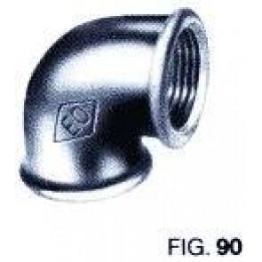 Bocht 90° FF Zwart nr 90