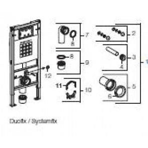 GEBERIT onderdelen vr inbouwreserv. SYSTEMFIX/DUOFIX/SANBLOC