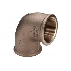 Vervalbocht FF 90° brons
