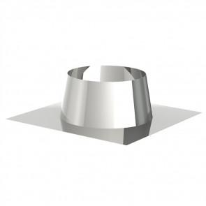 Dakdoorgang 0-5° INOX enkelwandig (DDS)