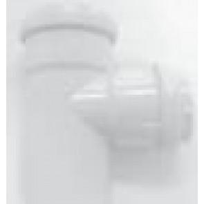 T-stuk PVC op 87° WIT sanitair