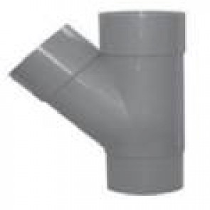 T-stuk PVC op 45° MFF GRIJS ROND