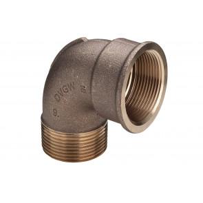 Bocht MF 90° brons