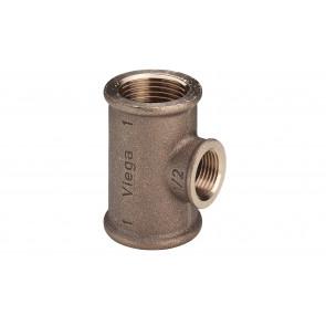 Verval-T-stuk brons