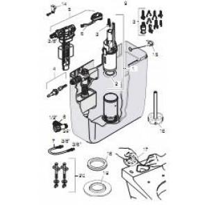 GEBERIT onderdelen voor opbouwspoelreservoir AP 128