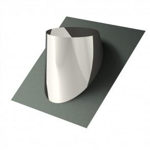 Dakdoorgang 30-45° INOX enkelwandig (DDS4)